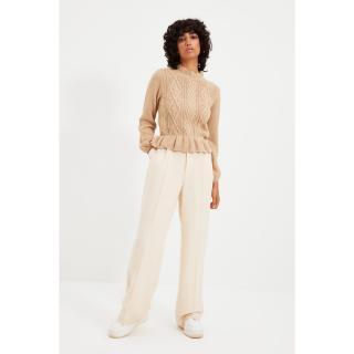 Trendyol Camel Knit Detailed Ruffle Knitwear Sweater dámské Other S