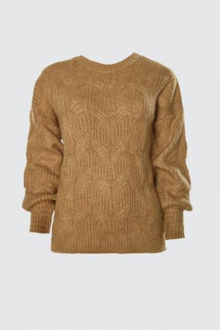 Trendyol Camel Knitted Detailed Knitwear Sweater dámské S