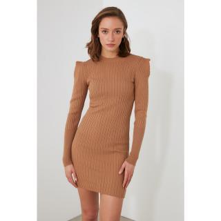 Trendyol Camel Knitwear Dress dámské S