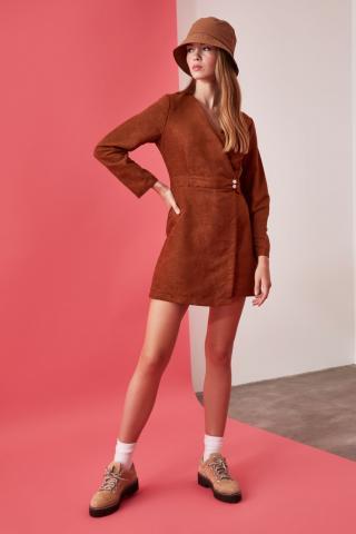 Trendyol Camel Shorts Skirt Dress dámské 34