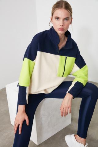 Trendyol Color Block Pocket Detailed Sports Sweatshirt dámské Multi M