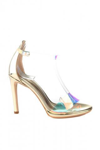 Trendyol Color Transparent Tape With Gold Platform Detailed Womens Classic Heels WearsS20TO0148 dámské 39