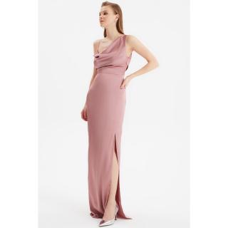 Trendyol Dried Rose Back Detailed Evening Dress & Graduation Gown dámské 34