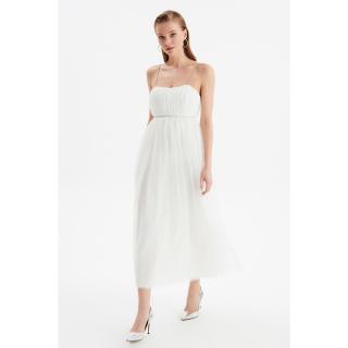 Trendyol Ecru Luminous Accessory Detailed Evening Dress & Graduation Gown dámské 40