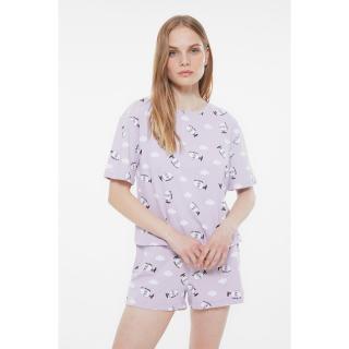 Trendyol Egg Pattern Knitted Pajamas Set dámské Very colorful S