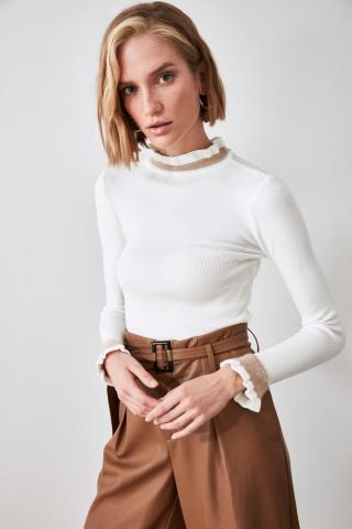 Trendyol Ekru Knitwear Sweater dámské Ecru M