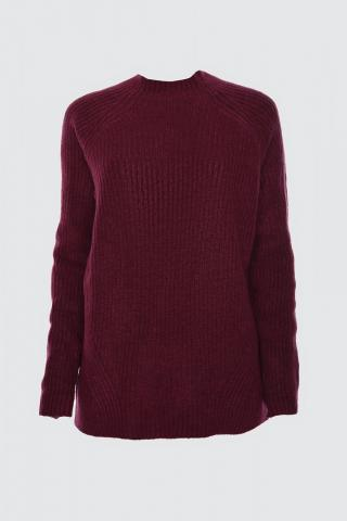 Trendyol ElderFitilli Upright Collar Knit Sweater dámské Plum S