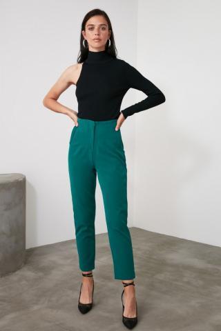 Trendyol Emerald Green Basic Pants dámské Zümrüt Yeşili 34