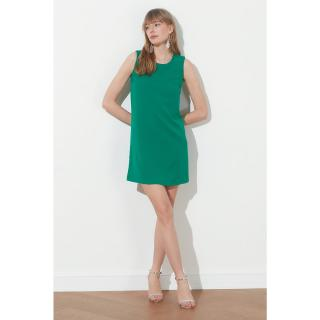 Trendyol Emerald Green Basic Sleeveless Dress dámské Zümrüt Yeşili 36