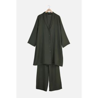 Trendyol Emerald Green Jacket Trousers Bottom-Top Suit dámské 42