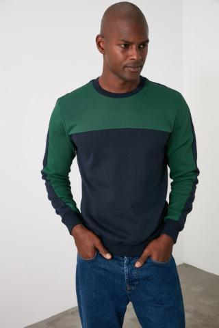 Trendyol Emerald Green Mens Sweatshirt pánské Zümrüt Yeşili S