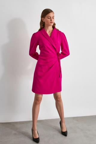 Trendyol FuchherTy Fitting Detailed Dress dámské Fuchsia 34