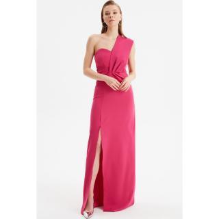 Trendyol Fuchsia Neck Detailed Evening Dress & Graduation Gown dámské 34