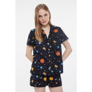 Trendyol Galaxy Patterned Knitted Pajamas Set dámské Very colorful S