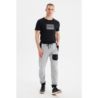 Trendyol Gray Mens Sweatpants pánské S