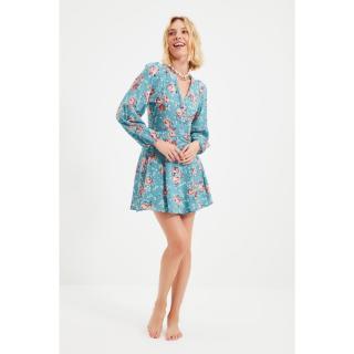 Trendyol Green Floral Pattern Dress dámské Other 36