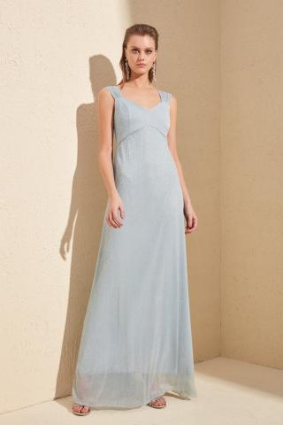 Trendyol Grey Back Detailed Evening Dress & Graduation Dress dámské 34