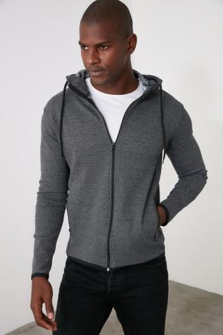Trendyol Grey Mens Sweatshirt pánské S