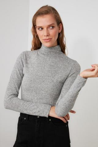Trendyol Grey Throat Knitted Blouse dámské S