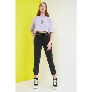 Trendyol High Waist Jogger Jeans dámské Anthracite 38