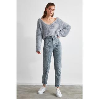 Trendyol High Waist Mom Jeans dámské Grey 36