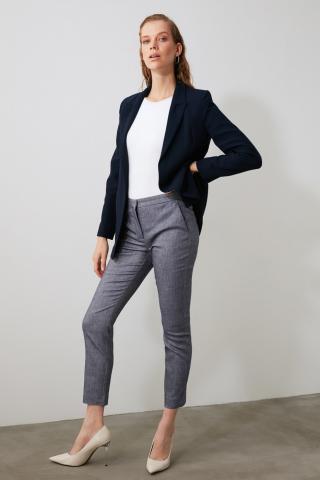 Trendyol Indigo Basic Fabric Pants dámské 34
