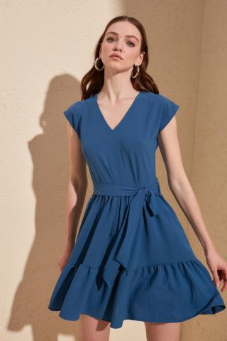 Trendyol Indigo Belt Dress dámské 40