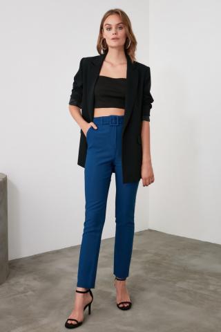 Trendyol Indigo Belted Pants dámské 34