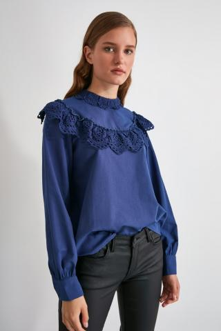 Trendyol Indigo Embroidered Blouse dámské 34