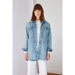 Trendyol Indigo Pocket Detailed Denim Jacket dámské 40