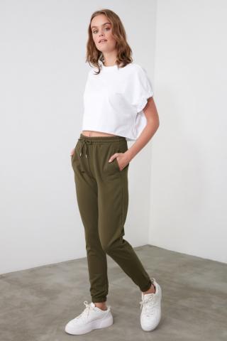 Trendyol Khai Basic Jogger Knitted Tracksuit bottom dámské Khaki XS