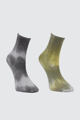 Trendyol Khai Batik Pattern 2 Pack Knitted Socks pánské Khaki One size