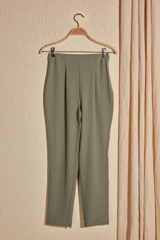 Trendyol Khaki Line Detailed Pants dámské 36