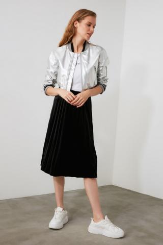 Trendyol Knitted Skirt with Black Pleat dámské XS