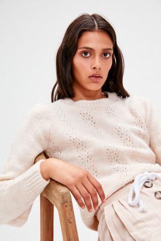Trendyol Knitwear Sweater with Ecru Blinds dámské M