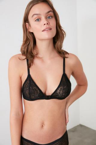 Trendyol Lacy Bra with Black Back Detail dámské XS