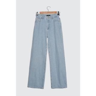 Trendyol Light Blue Cut Out Detailed High Waist Wide Leg Jeans dámské AÇIK MAVİ 38