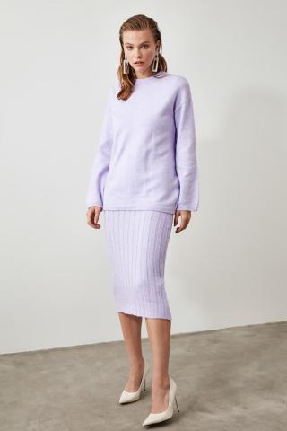 Trendyol Lila 2 Sweater - Dress Knitwear Suit dámské Lilac S