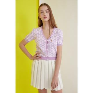 Trendyol Lila Button Detailed Knitwear Cardigan dámské Lilac S