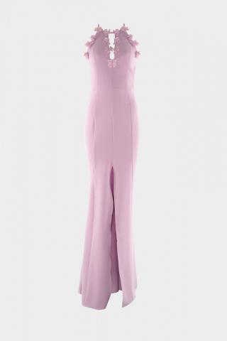 Trendyol Lila Collar Detailed Evening Dress & Graduation Dress dámské Lilac 34