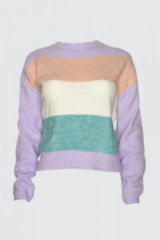 Trendyol Lila Color Block Knitwear Sweater dámské Lilac S