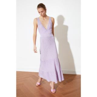 Trendyol Lila Glitter Knitwear Dress dámské Lilac M