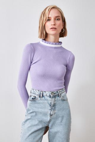 Trendyol Lila Knitwear Sweater dámské Lilac S