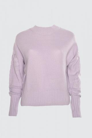 Trendyol Lila Sleeve Detailed Knitwear Sweater dámské Lilac S