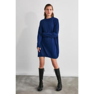Trendyol Lila Upright Collar Knitwear Sweater/Dress dámské Lilac S