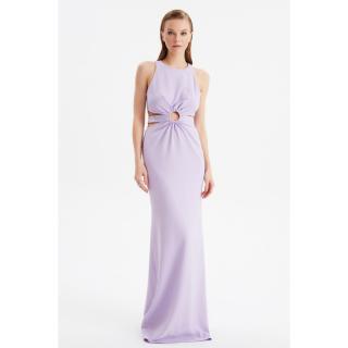Trendyol Lilac Accessory Detailed Evening Dress & Graduation Gown dámské 34
