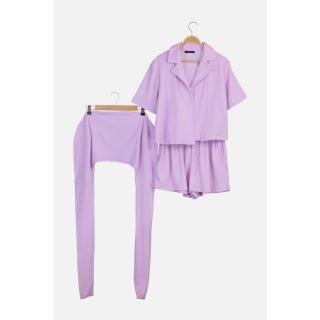 Trendyol Lilac Towel Fabric Bag Accessory Bottom-Top Set dámské XS