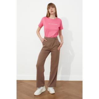 Trendyol Mink Asymmetric Closed Pleated Pants dámské 40