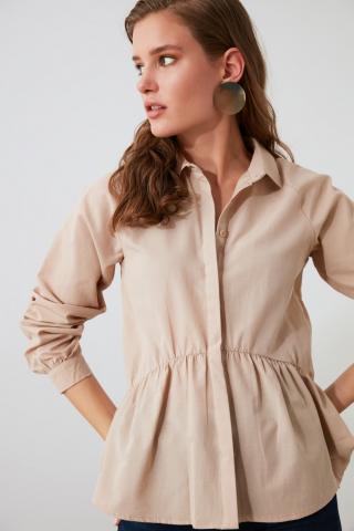 Trendyol Mink Basic Shirt dámské 34