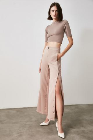 Trendyol Mink Button Detailed Pants dámské 34